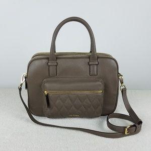Vera Bradley Taupe Leather Shoulder Bag NWT